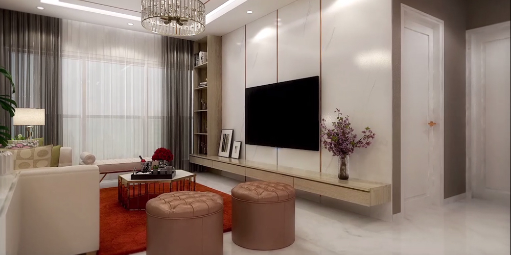 3BHK Spacious Living Room