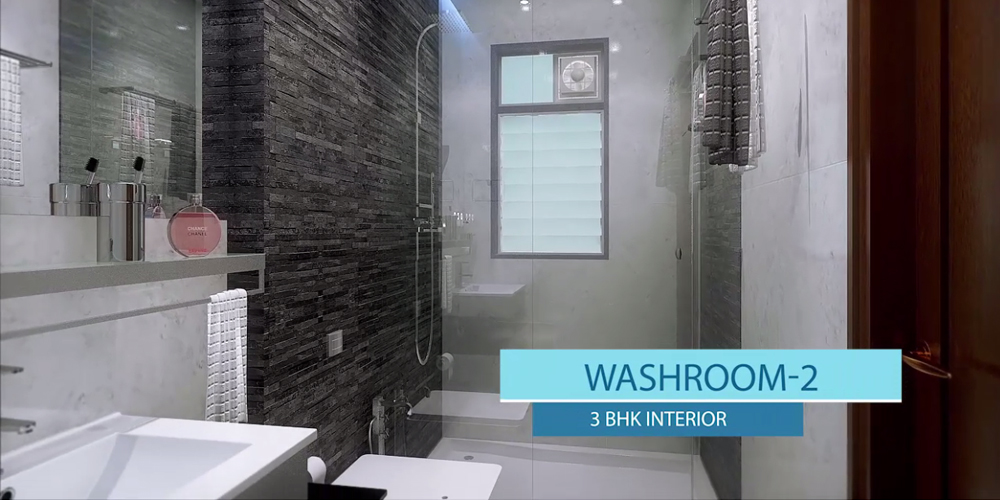 3BHK Spacious Washroom