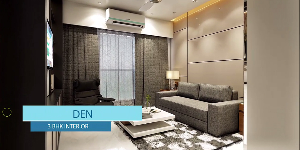 3BHK Den Room