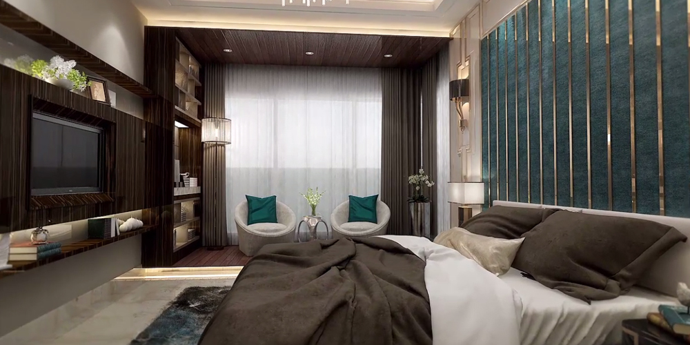 3BHK Luxurious Master Bedroom