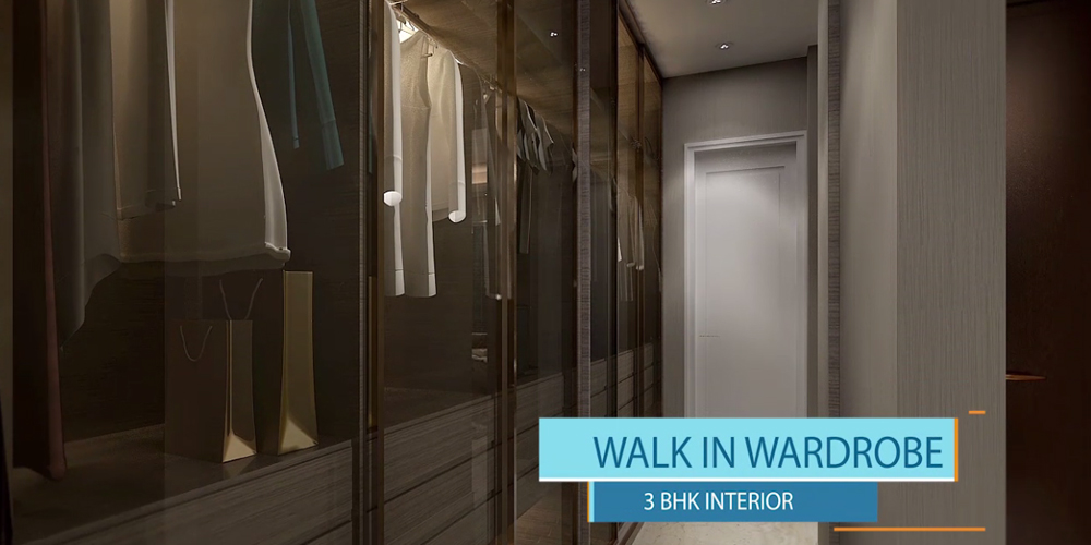 3BHK walk in wardrobe