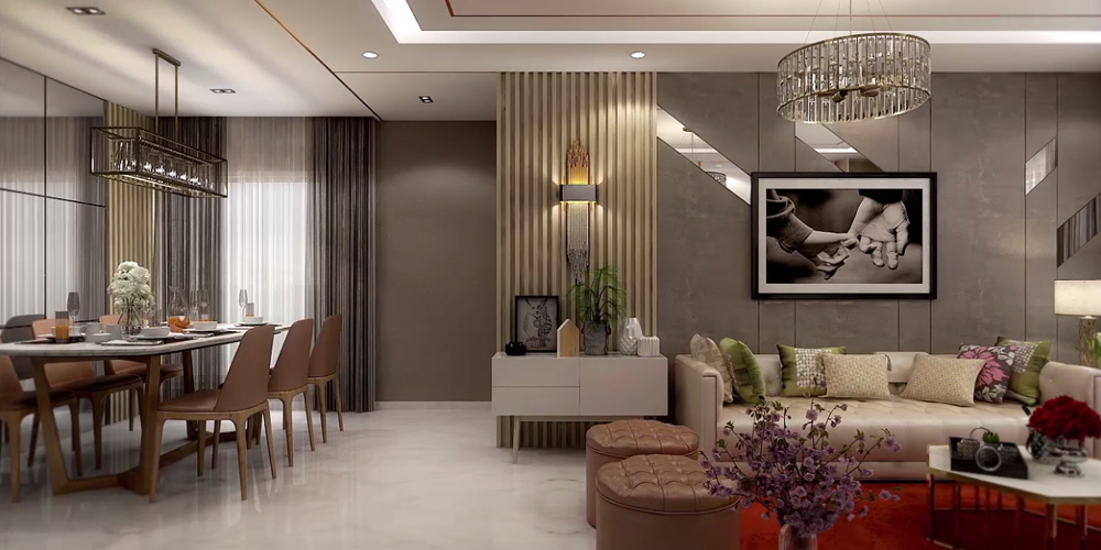 3BHK Living Room